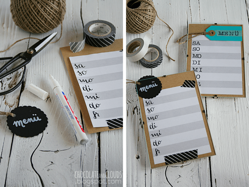 Erasable Weekly Meal Plan DIY