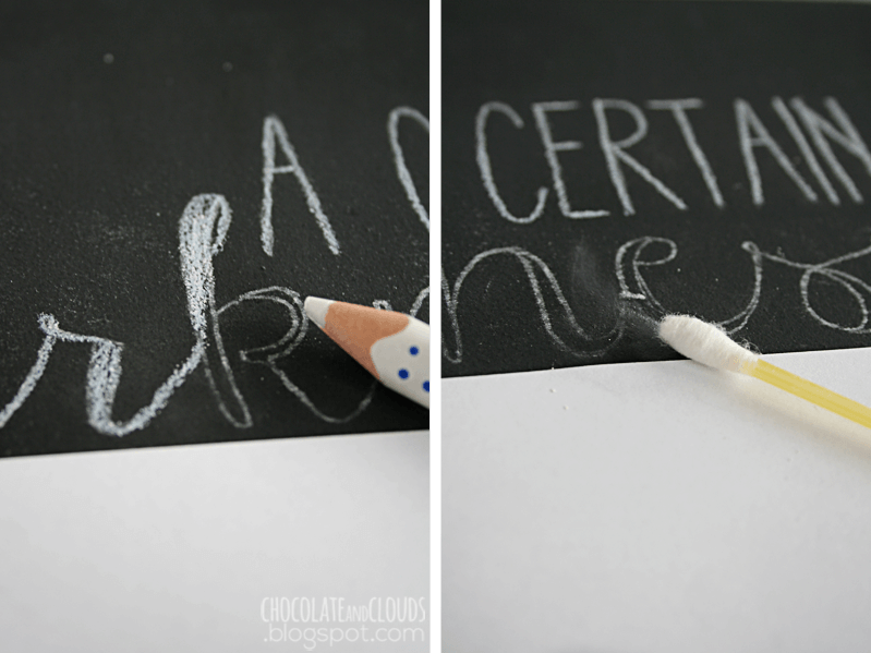 easy chalk board lettering diy