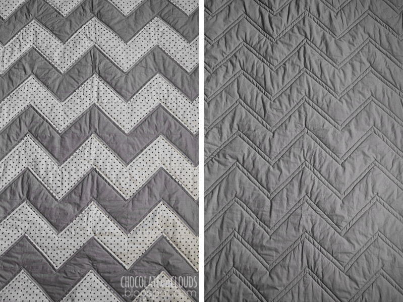 chevron baby quilt diy step by step tutorial