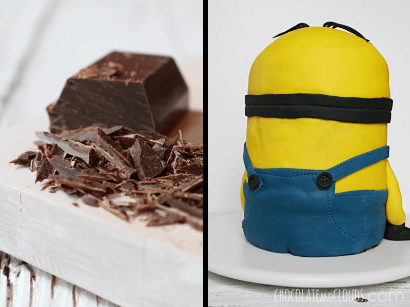 minion 3d fondant cake