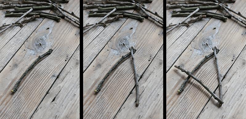 twigs stars garland diy