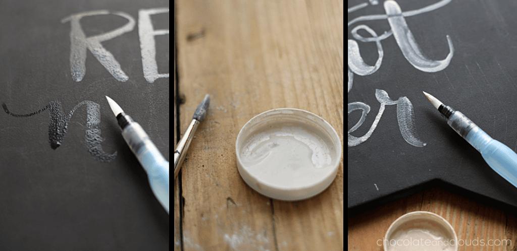 chalkboard brush lettering