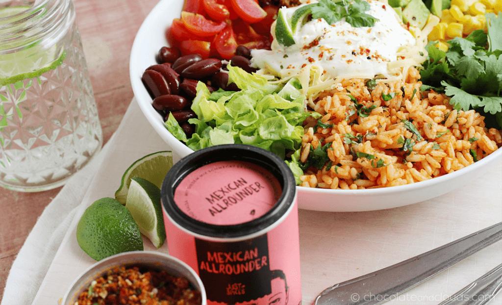 burrito bowl rezept mit just spices