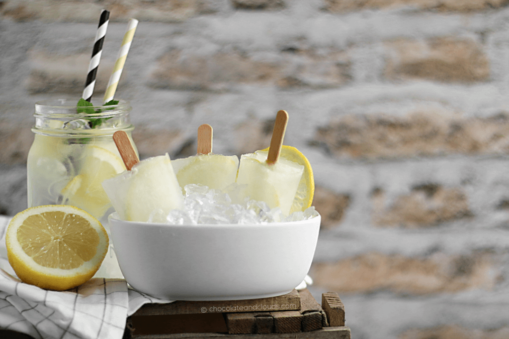 holunderblüten limonade eis am stiel popsicles rezept