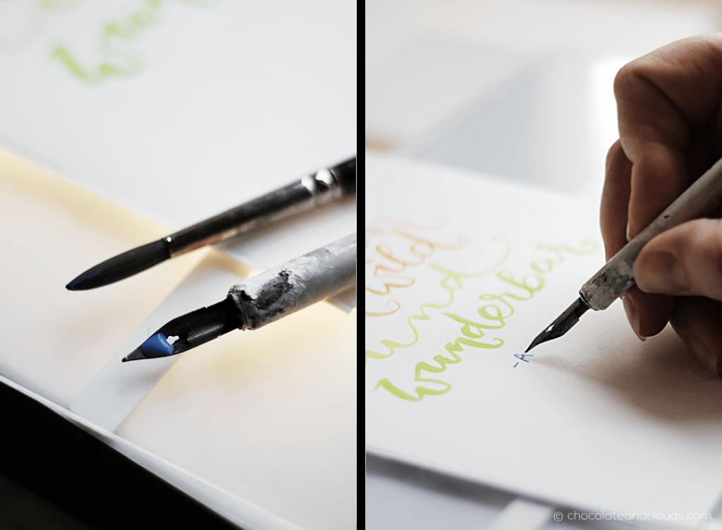 brush lettering baby geschenk diy mit vorlage