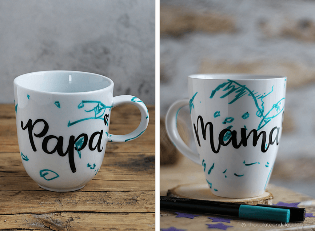 diy brush lettering tasse