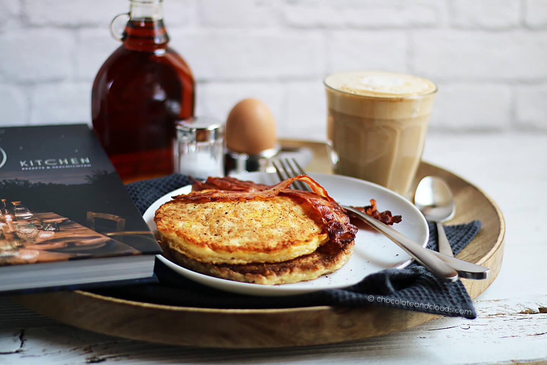 kaese pancakes bacon rezept