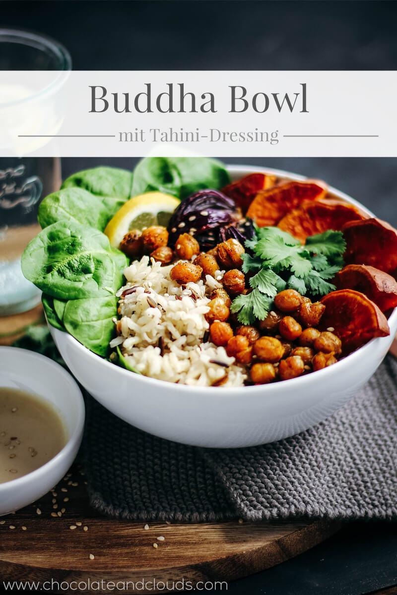 buddha bowl mit süßkartoffel und sesam dressing