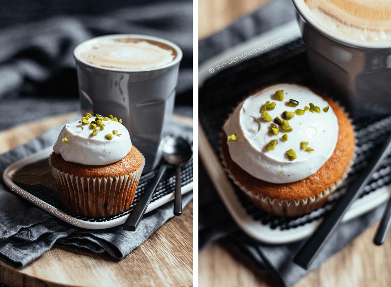 pumpkin spice muffins rezept mit schmand creme