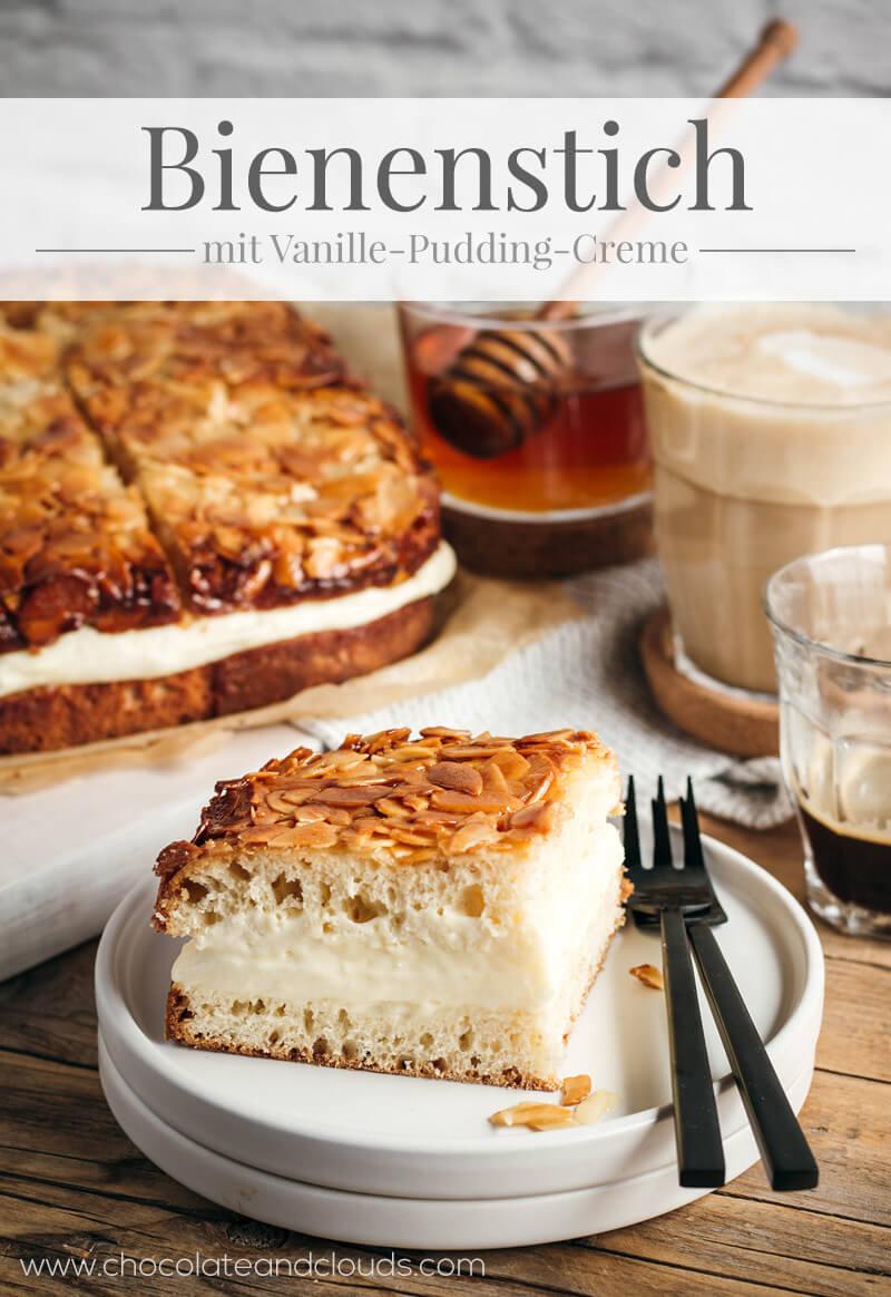 bienenstich mit pudding creme rezept