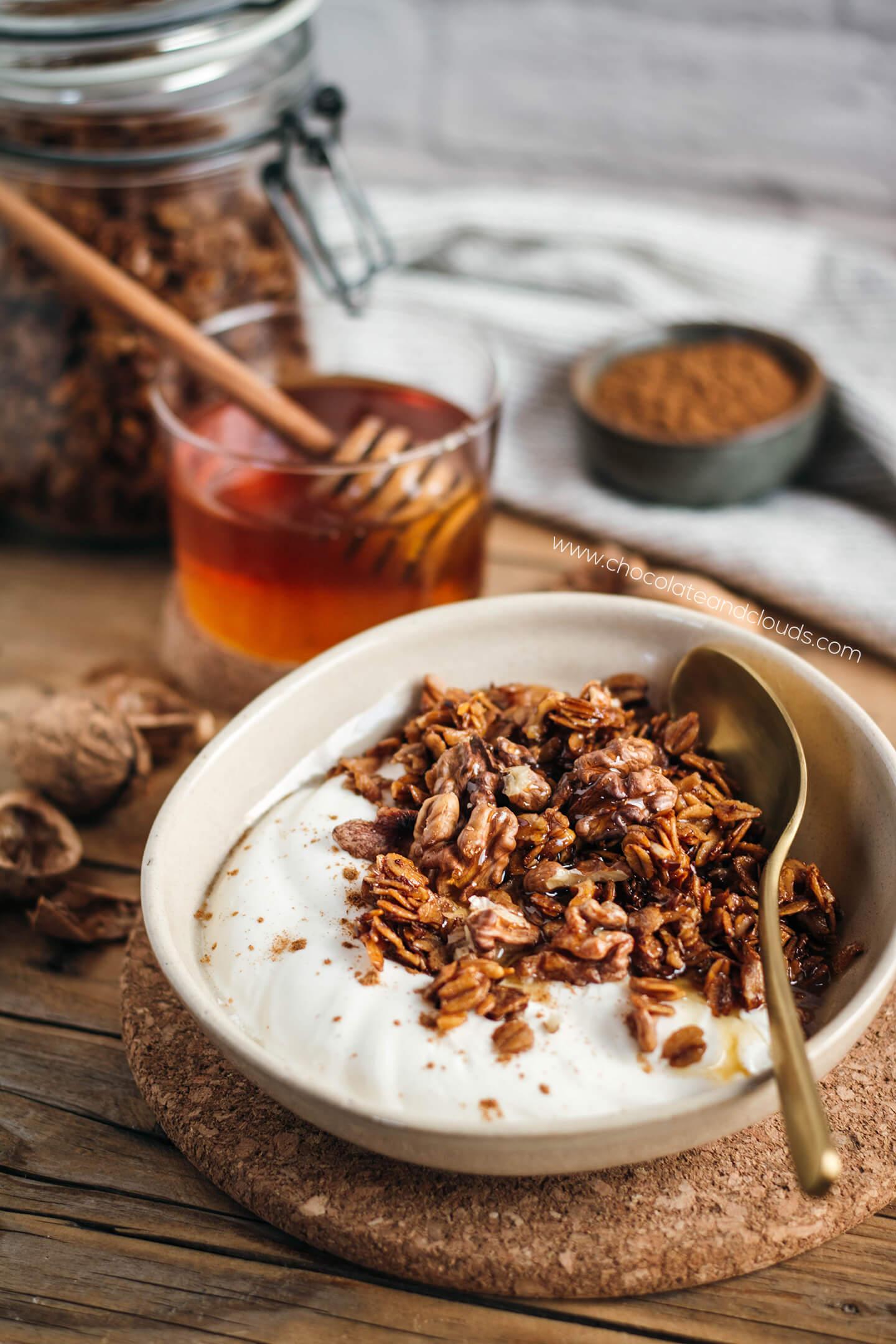 honig nuss granola rezept